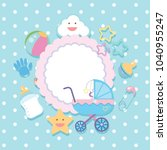 banner template with baby items ...   Shutterstock .eps vector #1040955247