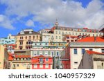 colorful streets of lisbon | Shutterstock . vector #1040957329