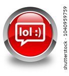 lol bubble icon isolated on... | Shutterstock . vector #1040959759