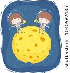 abstract illustration of kids... | Shutterstock .eps vector #1040962435