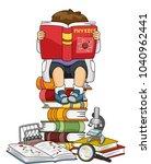 illustration of a kid boy... | Shutterstock .eps vector #1040962441