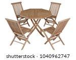 teak chairs and table garden... | Shutterstock . vector #1040962747