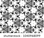 ornament with elements of black ... | Shutterstock . vector #1040968099