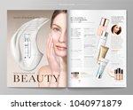 elegant skin care magazine...   Shutterstock .eps vector #1040971879