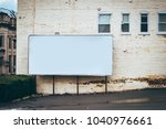 blank billboard on the side of... | Shutterstock . vector #1040976661