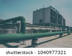 sets of cooling towers in data...   Shutterstock . vector #1040977321