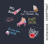 T Shirt Design With Patches An...