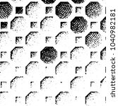 grunge halftone black and white ... | Shutterstock . vector #1040982181