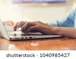 business and finance concept of ... | Shutterstock . vector #1040985427