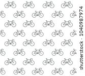 seamless bicycle icons pattern...   Shutterstock .eps vector #1040987974