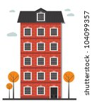 cartoon building | Shutterstock .eps vector #104099357