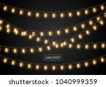 string wired christmas glowing... | Shutterstock .eps vector #1040999359
