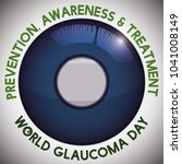 poster for world glaucoma day... | Shutterstock .eps vector #1041008149