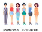 designer summer vogue... | Shutterstock .eps vector #1041009181
