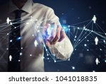 human resource manager selects... | Shutterstock . vector #1041018835