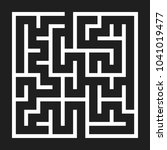 maze game background. labyrinth ... | Shutterstock . vector #1041019477
