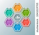 vector abstract 3d paper... | Shutterstock .eps vector #1041019705