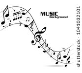 abstract music notes on line... | Shutterstock .eps vector #1041032101