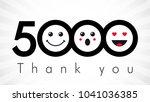 thank you 5000 followers... | Shutterstock .eps vector #1041036385