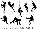 mountain climber set | Shutterstock .eps vector #104104217