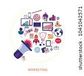 concept of digital marketing   Shutterstock .eps vector #1041042571
