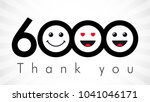 thank you 6000 followers... | Shutterstock .eps vector #1041046171