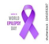world epilepsy day. purple... | Shutterstock . vector #1041053287