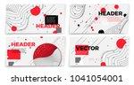 vector new memphis style banner ... | Shutterstock .eps vector #1041054001