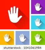 illustration of hand icons with ...   Shutterstock .eps vector #1041061984