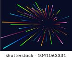 lines composition of glowing... | Shutterstock .eps vector #1041063331
