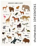 Alphabet Animal Chart Set...
