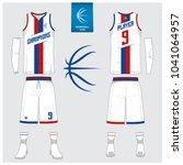 basketball jersey or sport...   Shutterstock .eps vector #1041064957