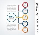 vector infographic template for ... | Shutterstock .eps vector #1041072169