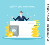 deposit and withdrawal...   Shutterstock .eps vector #1041072511