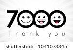 thank you 7000 followers...   Shutterstock .eps vector #1041073345