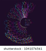 moving colorful lines of... | Shutterstock .eps vector #1041076561