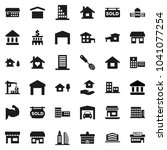 flat vector icon set   house... | Shutterstock .eps vector #1041077254