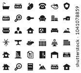 flat vector icon set   house...   Shutterstock .eps vector #1041078859