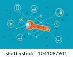 network and internet solutions... | Shutterstock .eps vector #1041087901