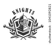 knights. emblem template with... | Shutterstock .eps vector #1041092821