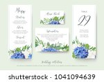 wedding floral personal menu ... | Shutterstock .eps vector #1041094639
