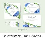wedding floral invite  save the ... | Shutterstock .eps vector #1041096961
