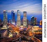 shanghai lujiazui finance and... | Shutterstock . vector #104109764