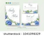 wedding floral invite ... | Shutterstock .eps vector #1041098329