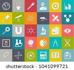scientific study icons  science ... | Shutterstock .eps vector #1041099721
