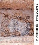 Small photo of Sufetula-Sbeitla-Tunisia- ancient geometric mosaics from the early Roman times of Christianity