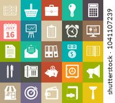 vector business icons set ... | Shutterstock .eps vector #1041107239