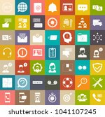 customer service icons ... | Shutterstock .eps vector #1041107245