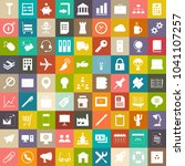 vector business icons set ... | Shutterstock .eps vector #1041107257