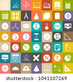 math icons  education sign... | Shutterstock .eps vector #1041107269